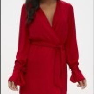 Pretty little thing - Red long sleeve formal dress